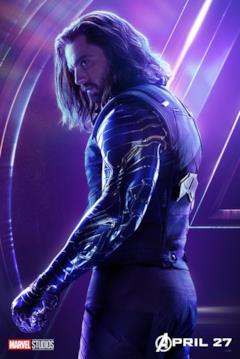Il poster del personaggio di Winter Soldier