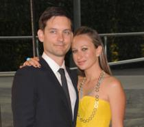 Primo piano di Tobey Maguire e Jennifer Meyer