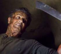 Una scena di Rambo: Last Blood