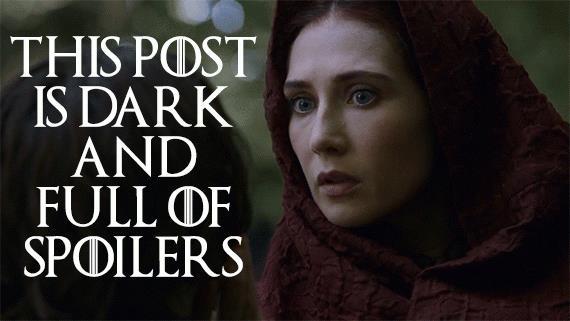 Una GIF di Game of Throne con il personaggio di Melisandre che ironizza sugli spoiler presenti nei post sui social network
