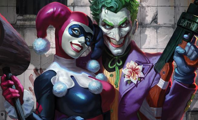 Un artwork di Harley Quinn e Joker