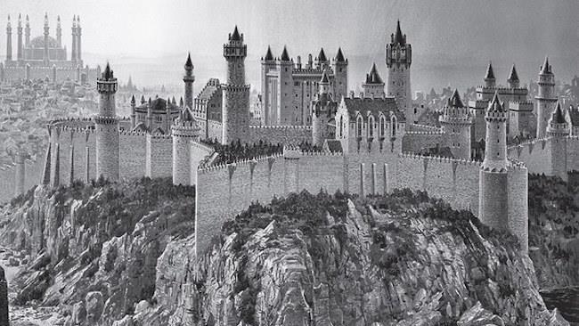 Uno dei castelli dei sette regni de Il Trono di Spade illustrato