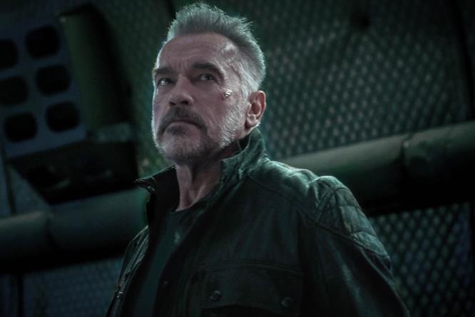 L'attore Arnold Schwarzenegger nel film Terminator: Dark Fate