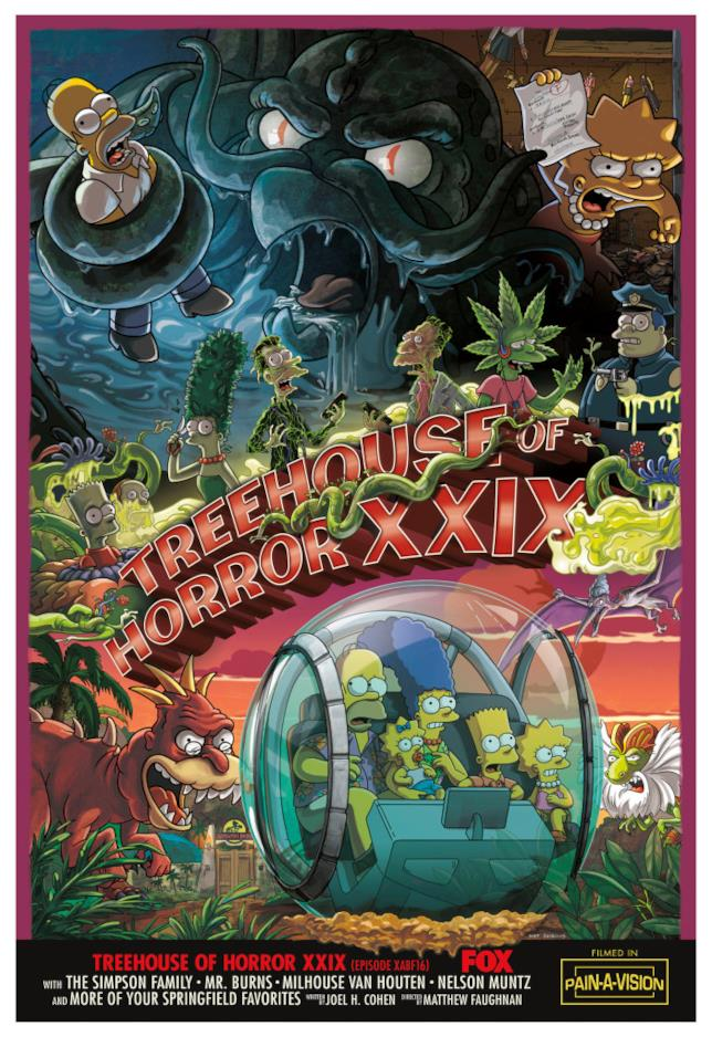 Il poster del ventinovesimo special di Halloween de I Simpson