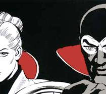 Dal fumetto: Eva Kant e Diabolik insieme in auto