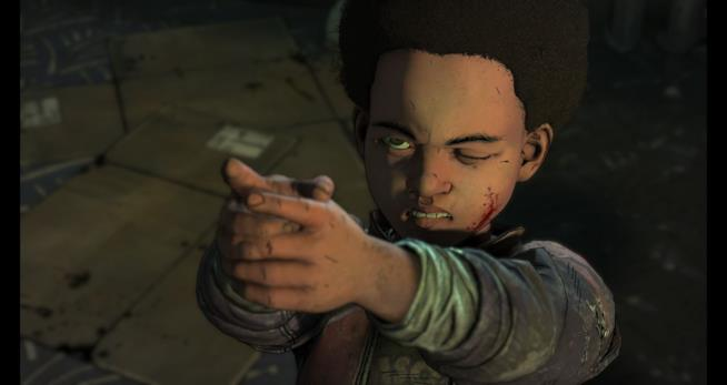 Il giovane A.J. in The Walking Dead: The Final Season