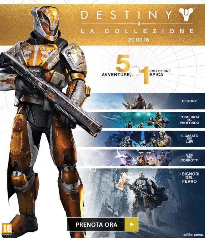 La locandina promozionale di Destiny: La Collezione