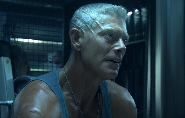 Primo piano del colonello Miles Quaritch (Stephen Lang) in una scena di Avatar (2009)