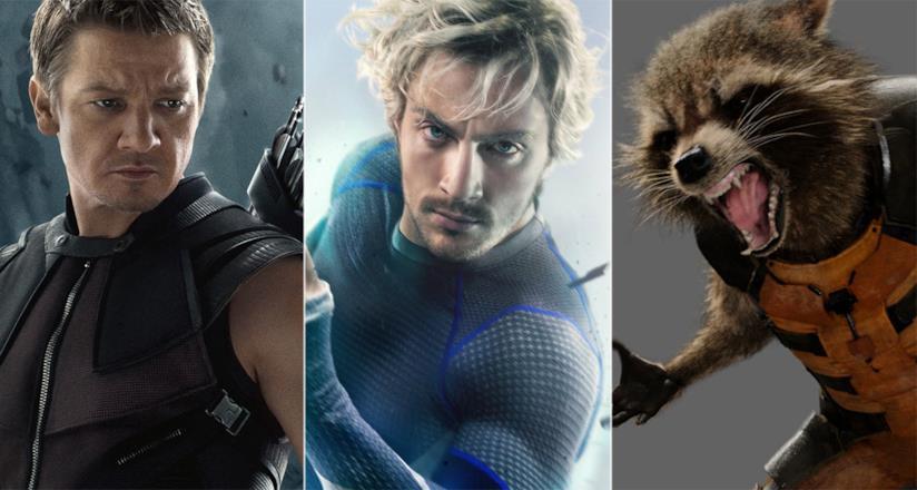 Hawkeye, Quicksilver e Rocket Raccoon nei film Marvel