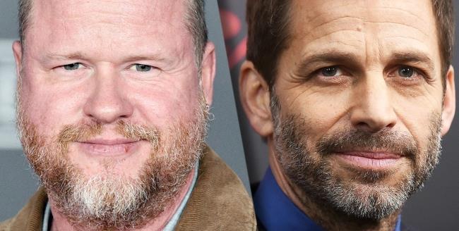 In foto Joss Whedon e il regista Zack Snyder