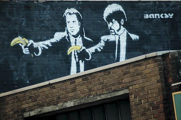 Banksy e arte di strada: rivisitazione di Pulp Fiction