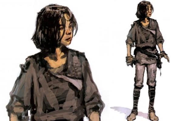 la concept originale di Ralph McQuarrie prevedeva un giovane e selvaggio Han Solo