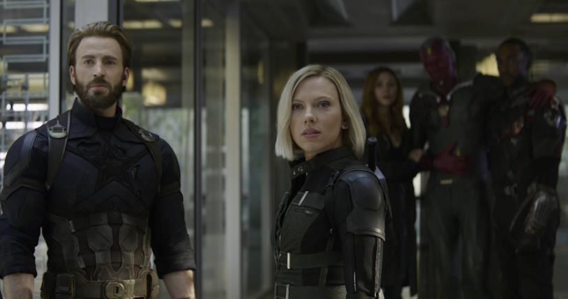 Vedova Nera insieme agli Avengers in Avengers: Infinity War