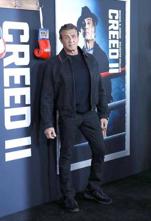 Presso l'AMC Loews Lincoln Square di New York, la prima di Creed II, con Sylvester Stallone