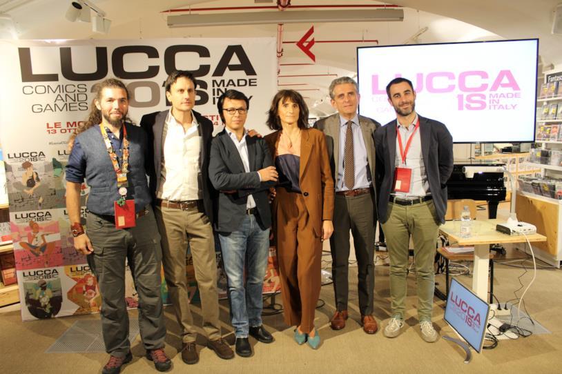I protagonisti della conferenza stampa di Lucca