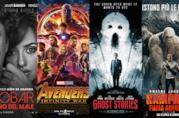 I poster dei film Escobar - Il fascino del male, Avengers: Infinity War, Ghost Stories, Rampage