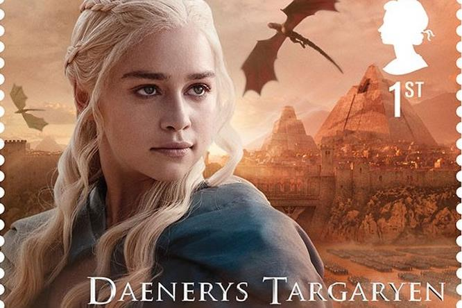 Daenerys Targaryen di Game of Thrones sul suo francobollo