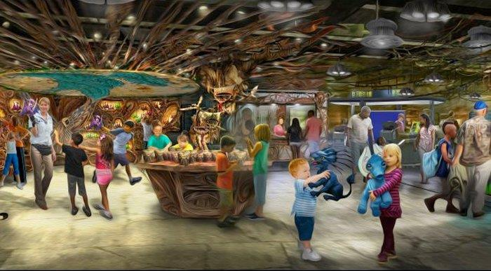 Immagine del negozio di souvenir del parco a tema Avatar