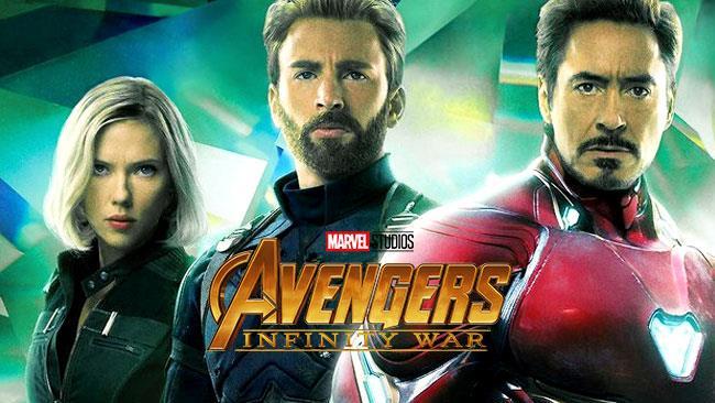 Black Widow, Cap e Iron Man in Avengers: Infinity War