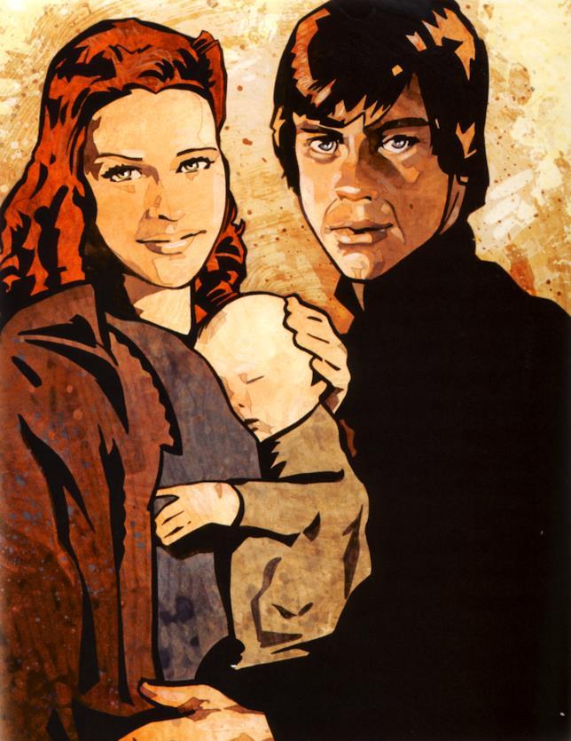 Immagine della famiglia Skywalker