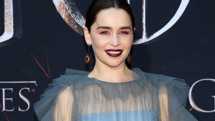 Emilia Clarke alla prima di Game of Thrones 8