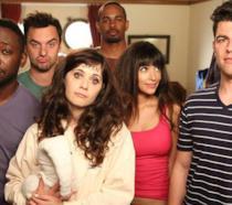 I personaggi della serie TV New Girl in uno scatto della quarta stagione