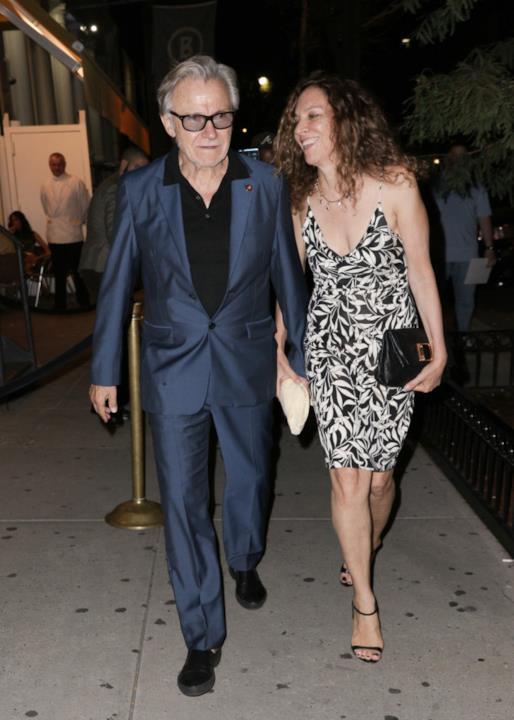 Harvey Keitel alla festa di fidanzamento dell'amico Tarantino