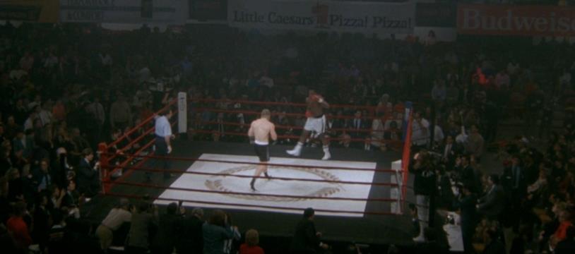 Tommy Gunn nell'incontro che lo incorona campione del mondo nel film Rocky V