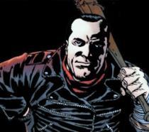 Un'immagine del fumetto di TWD con Negan in primo piano