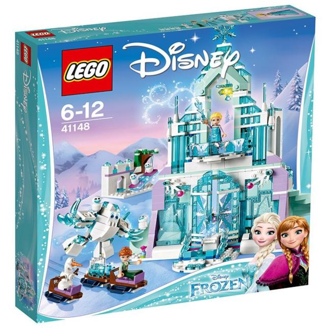 Dettagli del box del set Il magico castello di ghiaccio di Elsa di LEGO