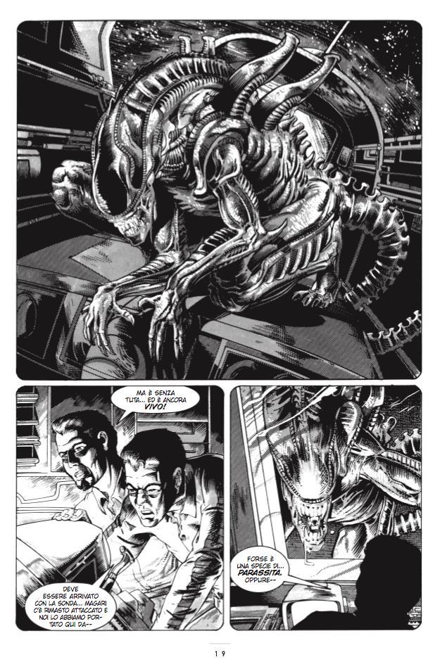 Tavola di Alien 30° Anniversario con lo Xenomorfo