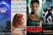 I poster dei film Ready Player One, Lady Bird, Tomb Raider e Pacific Rim: La rivolta