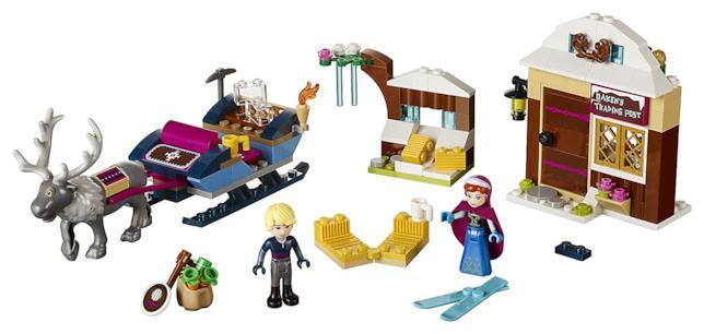 Dttagli del set L'avventura sulla slitta di Anna e Kristoff di LEGO