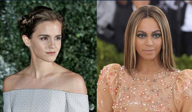 Un collage tra Emma Watson e Beyoncé