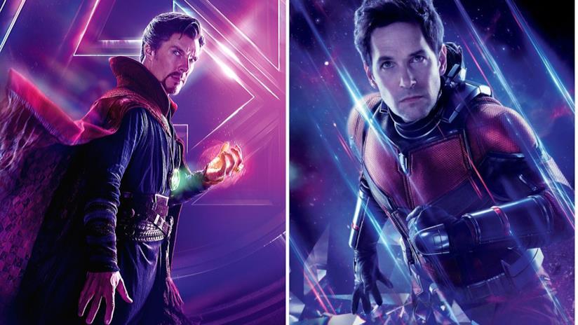 A sinistra Doctor Strange e a destra Ant-Man