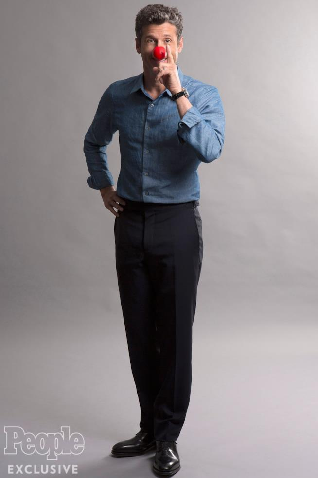 Patrick Dempsey con il naso rosso