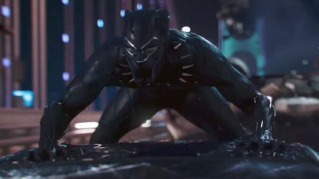 Black Panther in azione in una sequenza del trailer