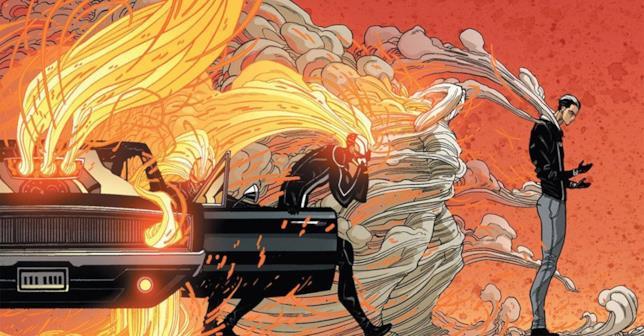 Ghost Rider torna a essere Robbie Reyes in una vignetta di Veicoli Di Vendetta