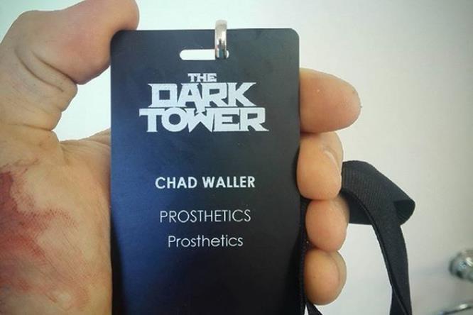 Chad Waller sul set di La Torre Nera