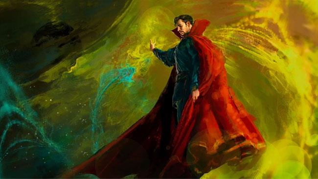 Benedict Cumberbatch in una concept art di Doctor Strange