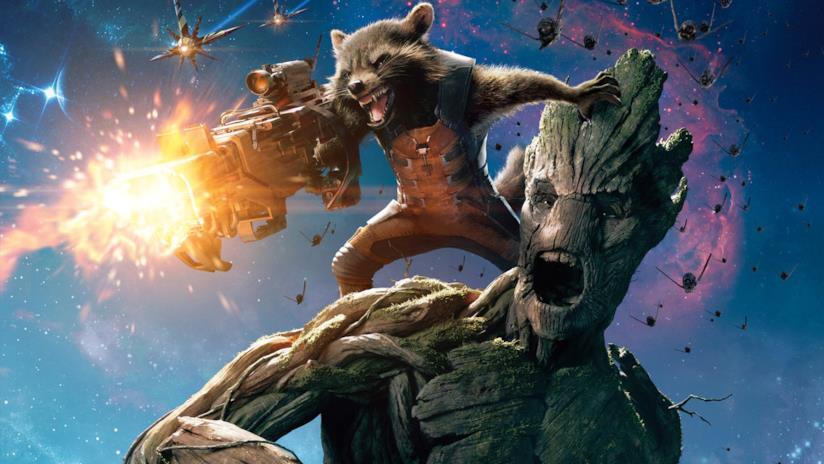 Un'immagine di Rocket Raccoon e Groot