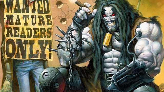 Immagine disegnata di Lobo seduto mentre fuma un sigaro