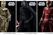 Tre dei 13 character poster di Star Wars: L'Ascesa di Skywalker con C-3PO, Kylo e  Zorri Bliss