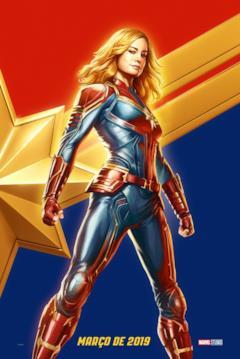Captain Marvel in uno dei poster disegnati del film