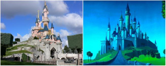 Il castello di Aurora e quello che si trova in Baviera