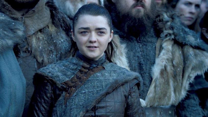 Maisie Williams in Game of Thrones 8x01