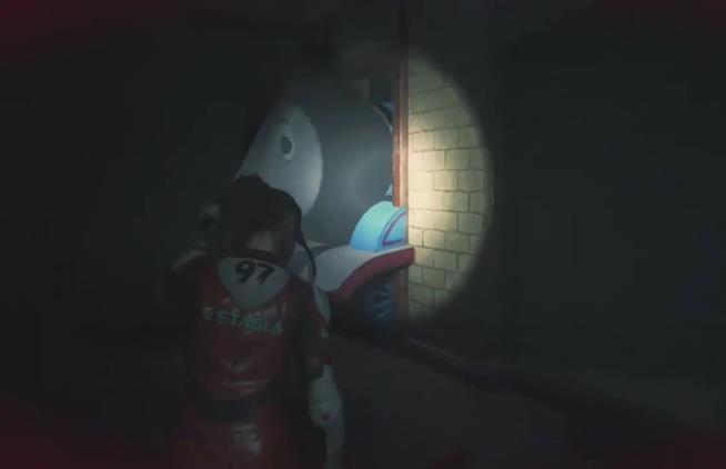 Il trenino Thomas nella mod di Resident Evil 2