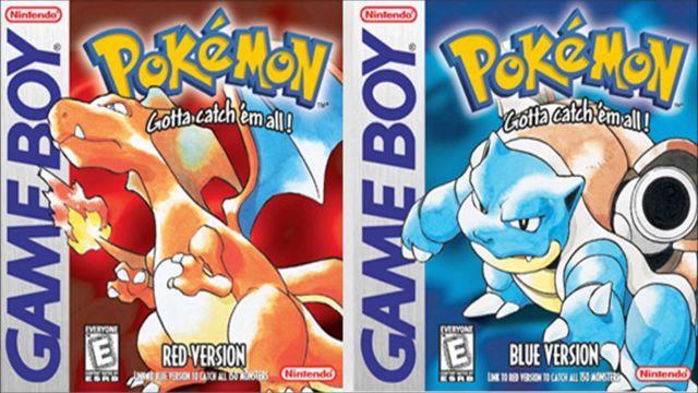 Charizard e Blastoise nelle copertine di Pokemon Rosso e Blu