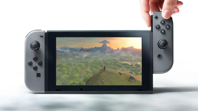 Nintendo Switch in una foto promozionale