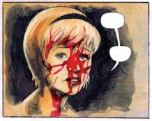 Sabrina col sangue sul volto